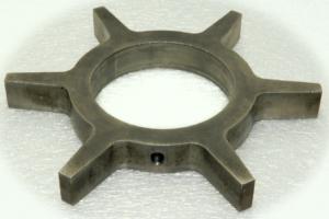 sintered powder with machining hole