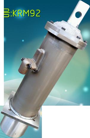 Серый гидравлический цилиндр